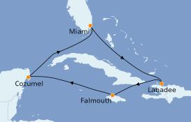 Itinéraire de la croisière Caraïbes de l'Ouest 8 jours à bord du Symphony of the Seas