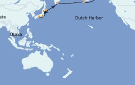 Itinéraire de la croisière Asie 17 jours à bord du Silver Muse