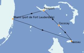 Itinerario de crucero Bahamas 5 días a bordo del Liberty of the Seas