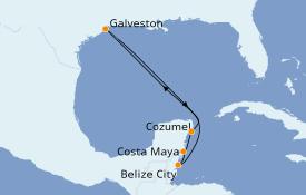 Itinéraire de la croisière Caraïbes de l'Ouest 8 jours à bord du Liberty of the Seas