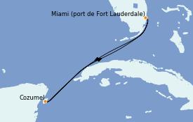 Itinéraire de la croisière Caraïbes de l'Ouest 5 jours à bord du Celebrity Edge