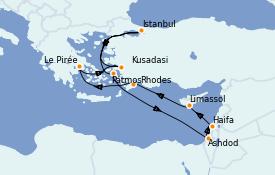 Itinéraire de la croisière Grèce & Adriatique 10 jours à bord du Norwegian Jade