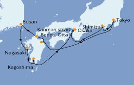 Itinéraire de la croisière Australie 2022 10 jours à bord du Norwegian Sun