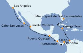 Itinéraire de la croisière Riviera Mexicaine 17 jours à bord du Vision of the Seas
