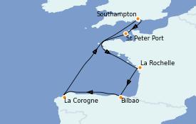 Itinéraire de la croisière Îles Britanniques 8 jours à bord du Sky Princess