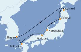 Itinéraire de la croisière Asie 8 jours à bord du Costa neoRomantica