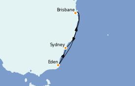Itinéraire de la croisière Australie 2021 7 jours à bord du Quantum of the Seas