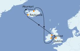 Itinéraire de la croisière Îles Britanniques 11 jours à bord du Celebrity Reflection