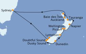 Itinéraire de la croisière Australie 2020 15 jours à bord du Norwegian Jewel