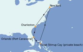 Itinerario de crucero Canadá 8 días a bordo del Norwegian Gem