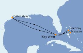 Itinéraire de la croisière Bahamas 8 jours à bord du Enchantment of the Seas