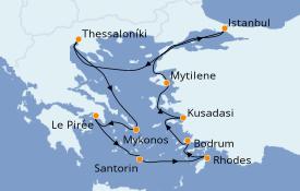 Itinéraire de la croisière Grèce & Adriatique 11 jours à bord du Norwegian Star
