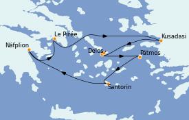 Itinéraire de la croisière Grèce & Adriatique 7 jours à bord du Le Bellot