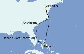 Itinéraire de la croisière Canada 8 jours à bord du Enchantment of the Seas