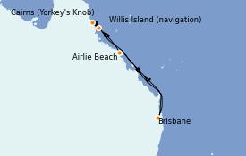 Itinéraire de la croisière Australie 2023 8 jours à bord du Quantum of the Seas