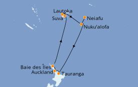 Itinéraire de la croisière Australie 2020 14 jours à bord du Celebrity Solstice