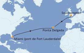Itinéraire de la croisière Îles Canaries 12 jours à bord du Queen Victoria
