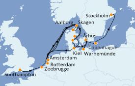 Itinéraire de la croisière Mer Baltique 11 jours à bord du Azamara Quest