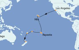 Itinéraire de la croisière Australie 2022 22 jours à bord du Grand Princess