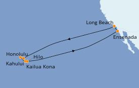Itinéraire de la croisière Hawaii 15 jours à bord du Carnival Miracle