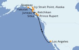 Itinéraire de la croisière Alaska 15 jours à bord du Sun Princess