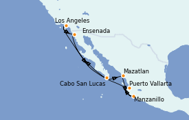 Itinéraire de la croisière Riviera Mexicaine 10 jours à bord du Seven Seas Mariner
