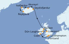 Itinéraire de la croisière Îles Britanniques 11 jours à bord du Norwegian Star