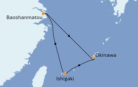 Itinéraire de la croisière Asie 6 jours à bord du Spectrum of the Seas