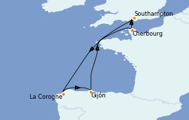 Itinéraire de la croisière Méditerranée 8 jours à bord du Queen Victoria