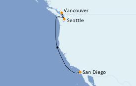 Itinéraire de la croisière Alaska 5 jours à bord du ms Koningsdam