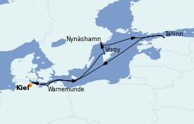 Itinerario de crucero Mar Báltico 8 días a bordo del MSC Seaview