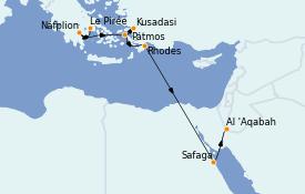 Itinerario de crucero Grecia y Adriático 11 días a bordo del Le Champlain
