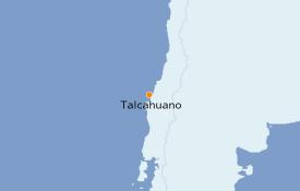Itinéraire de la croisière Amérique du Sud 7 jours à bord du Le Boréal