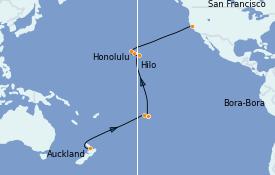 Itinéraire de la croisière Australie 2022 23 jours à bord du Sapphire Princess