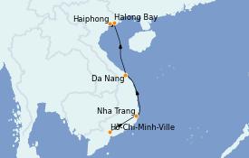 Itinerario de crucero Asia 11 días a bordo del Le Lapérouse