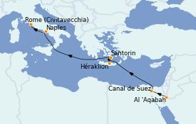 Itinéraire de la croisière Transatlantiques et Grands Voyages 2022 13 jours à bord du MSC Magnifica