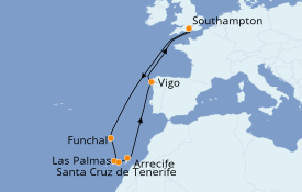 Itinéraire de la croisière Méditerranée 11 jours à bord du Anthem of the Seas