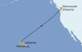 Itinéraire de la croisière Hawaii 10 jours à bord du ms Noordam