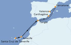Itinéraire de la croisière Méditerranée 11 jours à bord du Seven Seas Explorer
