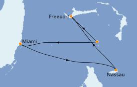 Itinéraire de la croisière Bahamas 5 jours à bord du Norwegian Pearl
