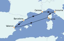 Itinéraire de la croisière Méditerranée 8 jours à bord du Queen Elizabeth