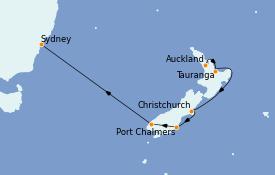 Itinéraire de la croisière Australie 2022 9 jours à bord du Grand Princess