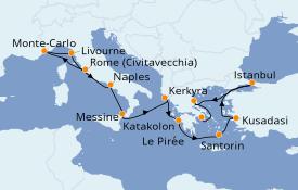 Itinéraire de la croisière Grèce & Adriatique 12 jours à bord du Norwegian Star