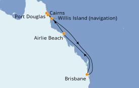 Itinéraire de la croisière Australie 2020 8 jours à bord du Sun Princess
