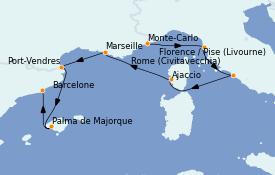 Itinéraire de la croisière Méditerranée 8 jours à bord du MS Marina
