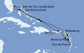 Itinerario de crucero Caribe del Este 11 días a bordo del Enchanted Princess