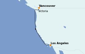 Itinéraire de la croisière Alaska 5 jours à bord du Sapphire Princess