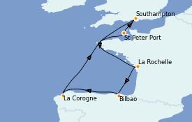 Itinéraire de la croisière Îles Britanniques 8 jours à bord du Regal Princess