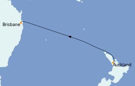 Itinéraire de la croisière Australie 2023 5 jours à bord du Coral Princess