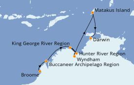 Itinéraire de la croisière Australie 2022 11 jours à bord du Silver Explorer